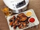 Рецепта Глазирани пикантни пилешки крилца със сусам в Делимано Мултикукър